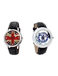 Gledati Men's Multicolor Dial And Foster's Women's White Dial Analog Watch Combo_ADCOMB0001902