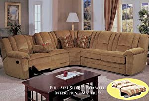 4pcs Sectional Fabric Full Bed Recliner Sofa BQ-S095P1