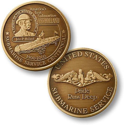 Northwest Territorial Mint USS Holland Dolphin Bronze Antique Coin