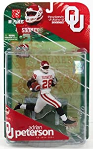 Buy McFarlane Adrian Peterson Oklahoma Sooners Series 1  Wave 1 Action Figure - Oklahoma Sooners One Size by Unknown