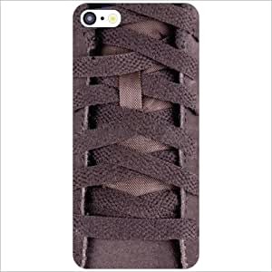 Apple iPhone 5C Back Cover - Brown Shoe Laces Designer Cases