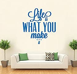 Hoopoe Decor Life is what you make it Wall Stickers and Decals