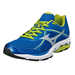 Mizuno Mens Ultima 6 Running Shoes Trainers Lace Up Sports Jogging Footwear Blue/Lime 11