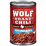 Wolf  Chili Without Beans, 15-Ounce Cans (Pack of 24) ~ Wolf