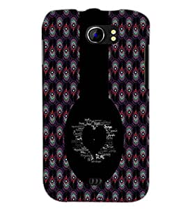 PrintDhaba Typographic Heart D-2956 Back Case Cover for MICROMAX A110 CANVAS 2 (Multi-Coloured)