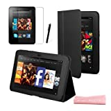 MINI KITTY- Black Multifunctional Smart Stand Case Cover for the New Kindle Fire HD 7