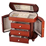 Homepointe Modern Classic Mdf Jewelry Box - Brown