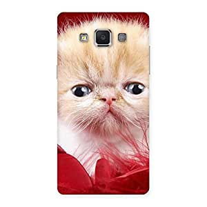 Stylish Kitty In Red Fur Back Case Cover for Samsung Galaxy A5