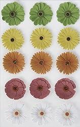 Martha Stewart Crafts Stickers, Dimensional Zinnia