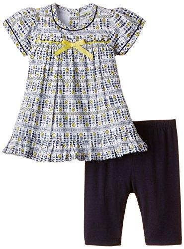 Nauti Nati Baby Girls' Clothing Set (NSS15-74_Grey and white_12 - 18 months)