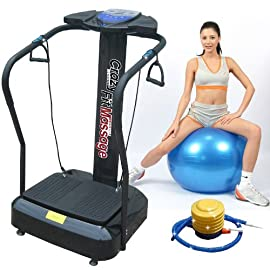 Gym Master Crazy Fit Vibration Machine 3000W Peak Power 160 Speed,MP3, Semi Commercial in Black