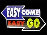 コトワザステッカー《簡単に入って来るものは簡単に出ていく/EASY COME EASY GO》防水加工
