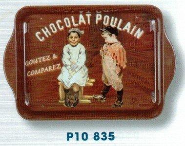 Cartexpo-P10835-Alimentation-Mini-Plateau-Chocolat-Poulain-Mtal