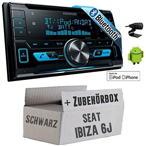 Seat Ibiza 6J 2DIN Schwarz - Kenwood DPX-X5000BT - 2DIN Bluetooth USB Autoradio - Einbauset