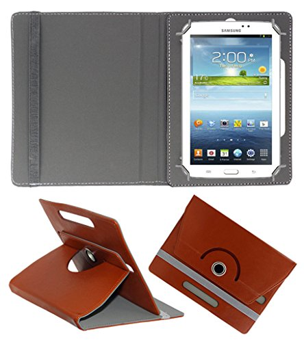 ACM ROTATING 360° LEATHER FLIP CASE FOR SAMSUNG GALAXY TAB 3 T211 P3200 P3210 TABLET STAND COVER HOLDER BROWN  available at amazon for Rs.149