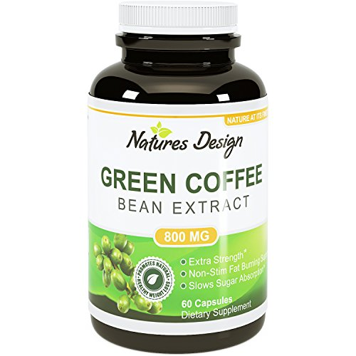 Pure Green Coffee Bean Extract - Highest Grade & Quality Antioxidant GCA (Standardized to 50% Chlorogenic Acid) for Men & Women (Best Formula) - Burns Both Fat and Sugar As Doctors Recommend - Guaranteed By Natures Design (Coffee Bean Extract Highest Grade compare prices)