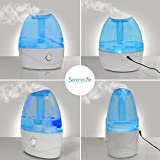 SereneLife Cool Mist Ultrasonic Humidifier for Home and Office - No Noise, Filter Free and Adjustable Vapor - 2.5L