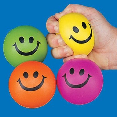 Smile Face Squeeze Ball, Colors May Vary front-1068293