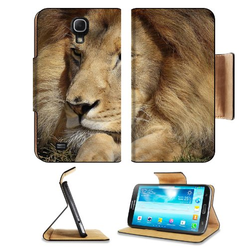 Lion Face Big Cat Eyes Samsung Galaxy Mega 6.3 I9200 Flip Case Stand Magnetic Cover Open Ports Customized Made To Order Support Ready Premium Deluxe Pu Leather 7 1/16 Inch (171Mm) X 3 15/16 Inch (95Mm) X 9/16 Inch (14Mm) Liil Mega Cover Professional Mega6