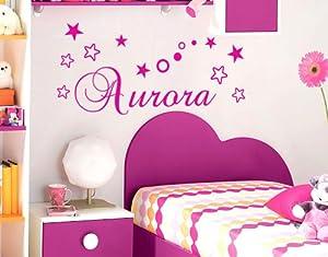 Adesivo nome wall stickers personalizzato decorazione for Parete cameretta bambina