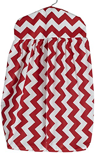 Baby Doll Chevron Dot Diaper Stacker, Red