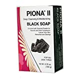 Piona ® II Deep Cleansing & Moisturizing Black Soap 6.35 Oz - Enriched with Charcoal Powder - Clears Complexion and Leaves Skin Glowing - By Cherrybargains