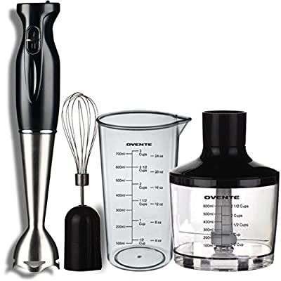Ovente HS58 Stainless Steel Immersion Hand Blender Set