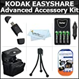Essential Accessories Bundle Kit For Kodak EasyShare Max Z990, Z5010, Z5120, Digital Camera Includes USB 2.0 High Speed Card Reader + 4 AA High Capacity Rechargeable NIMH Batteries And AC/DC Rapid Charger + Carrying Case + LCD Screen Protectors + More thumbnail