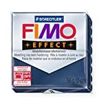 STAEDTLER FIMO Effect Metallic Sapphire Blue (38) FIMO Effect Polymer Modelling Moulding Clay Block Oven Bake Colour 56g (Pack Of 1)