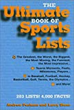 img - for The Ultimate Book of Sports Lists book / textbook / text book