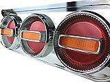 Officek 24V 3連 丸型 赤黄 ハロゲン チェリーテール 左右セット 3連テール