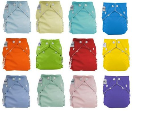 12pack FuzziBunz Perfect Size Diapers - Gender Neutral Colors MEDIUMB001D17YPE : image