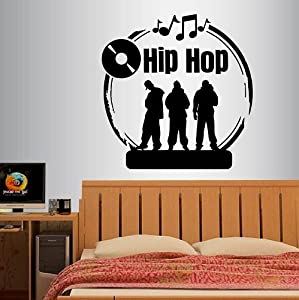 Wall vinyl decal home decor art sticker hip hop sign for Hip home decor