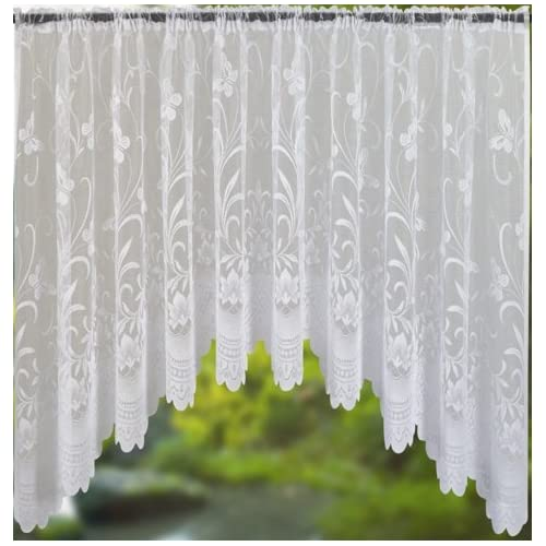 Spring White Jardiniere Net Curtain 200x40