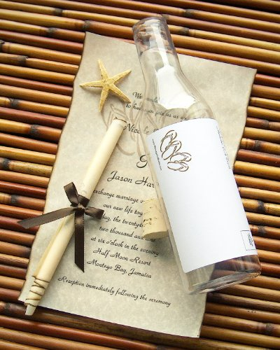Message In A Bottle ® Destination Wedding Invitation Sample - Beachcomber