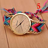 New Geneva Gold Dial Thread Knitted Alloy Chain Women Ladies Bracelet Watch Jewelry #5 thumbnail