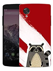"Humor Gang The Artful Raccoon Printed Designer Mobile Back Cover For ""Lg Google Nexus 5"" (3D, Matte, Premium Quality Snap On Case)..."