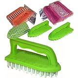 SET 3 HARD TOUGH MULTI PURPOSE SCRUBBING BRUSHES BRUSH KITCHEN CLEANING CARPET