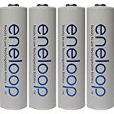 Eneloop QS-RXXW-NU9Y Newest Version 4th Generation AA NiMH Pre-Charged 2100 Times Rechargeable Battery with Holder Pack of 4