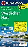 Westlicher Harz: Wanderkarte mit Aktiv Guide und Radwegen. GPS-genau. 1:50000