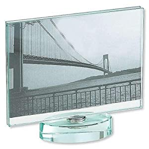 Sixtrees Glass 4-Inch by 6-Inch Horizontal Spinner Frame