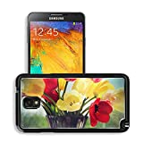 MSD Premium Samsung Galaxy Note 3 Aluminum Backplate Bumper Snap Case IMAGE ID 29610413 Bouquet of colorful spring tulips in a vase on a background of a window