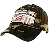 Pride of America USA Flag Distresed Denim Jean Adjustable Baseball Cap Hat Camo