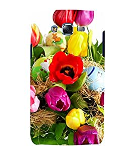 printtech Easter Colored Eggs Back Case Cover for Samsung Galaxy J7 (2016 )