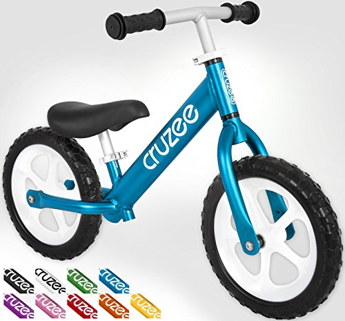 "Cruzee UltraLite (4.2 lbs) Balance Bike 12"" For 18 Months to 5 Years Old Toddlers and Children (Blue)"
