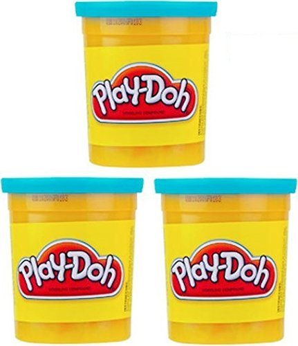 (3 Pack) Bright Blue (23859) Hasbro Play-Doh 5 oz. (15 oz. total)