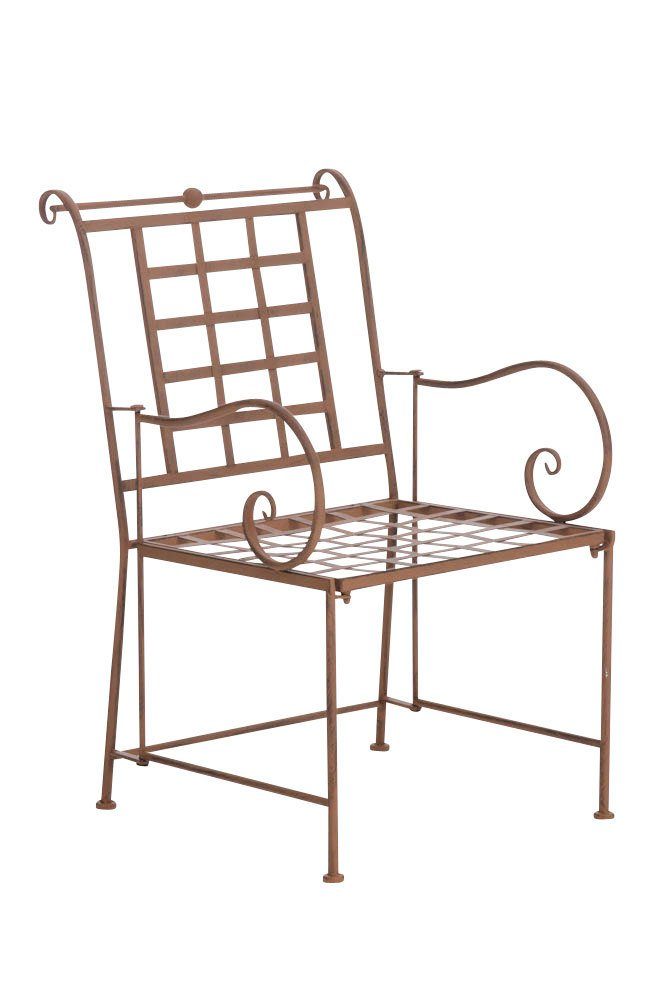 CLP nostalgischer Metall Garten-Stuhl HELEN aus Eisen (aus bis zu 6 Farben wählen) antik-braun