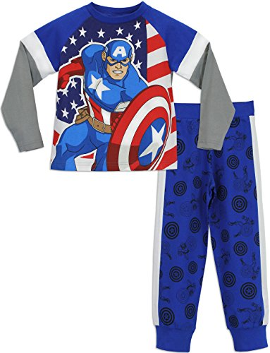 Marvel Boys' Captain America Pajamas
