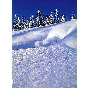 Klappkarte Grußkarte Winter, Schnee, Weihnachten - Winterlandschaft - Faltkarte DIN A6, 1 Stück