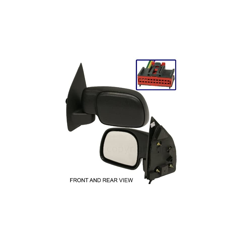 FORD F SERIES SUPERDUTY PICKUP 08 10 SIDE MIRROR LEFT DRIVER, POWER, FOLDING